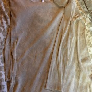 Wildfox  swimsuit cover up.   GOLD size Small